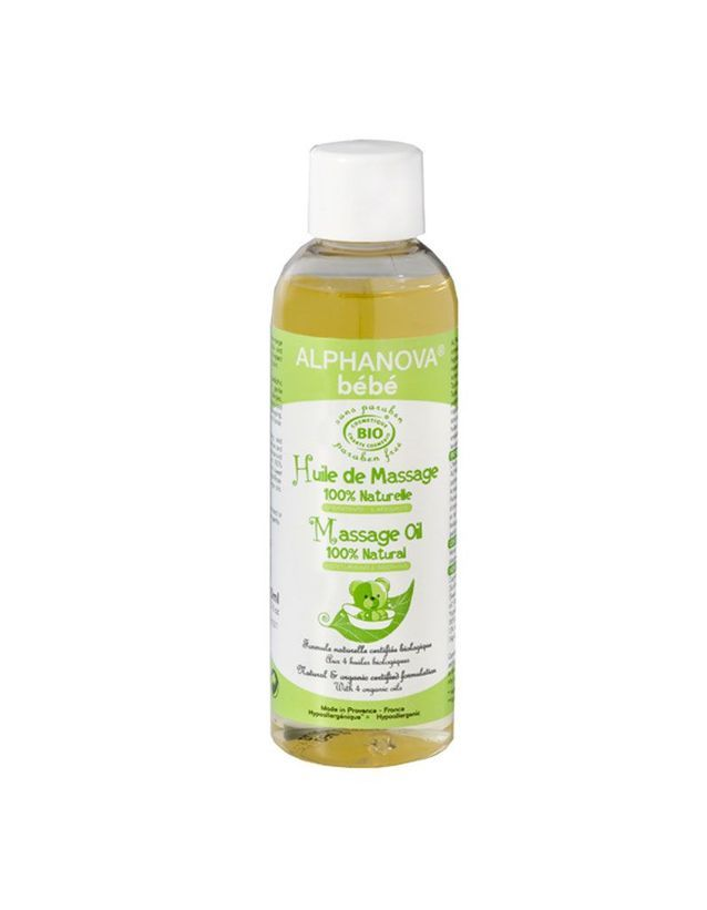 Huile hydratante et de massage, Alphanova, 6,36 €