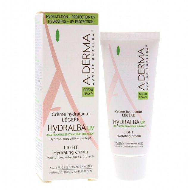 Hydralba UV Crème Hydratante Légère SPF 20, A-Derma