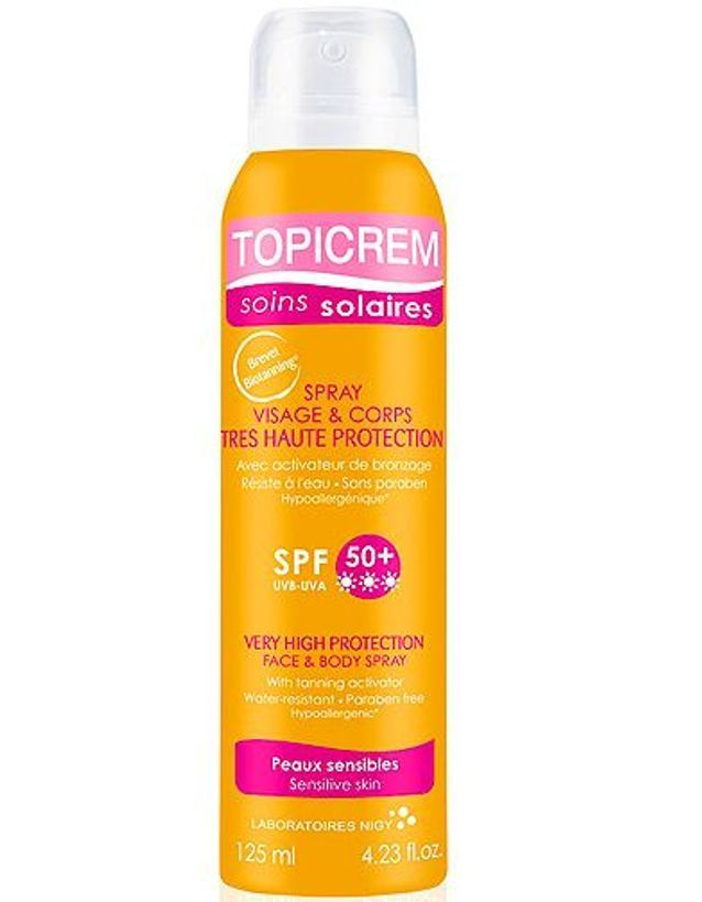 Beaute soin protection soleil creme solaire Topicrem Spray adulte 125ml