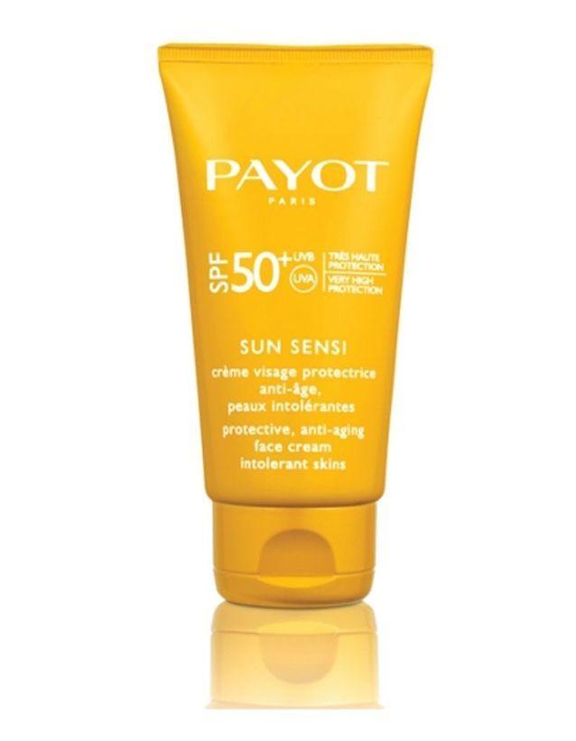 POUR PROTEGER: Crème protectrice visage anti-âge SPF 50, Sun Sensi, Payot