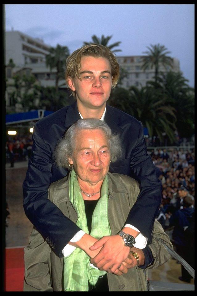 Leonardo DiCaprio et sa grand mère sur le tapis rouge de Cannes en 1996