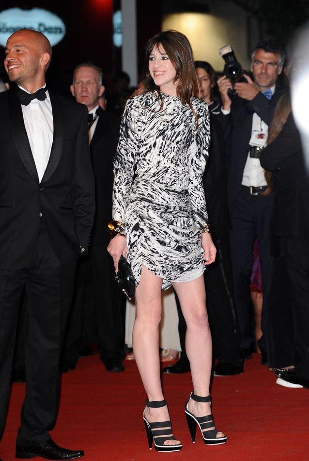 Charlotte Gainsbourg en robe imprimée au 62ème Festival de Cannes