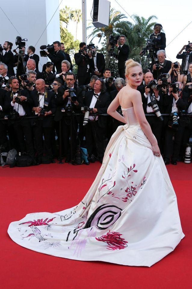 Elle Fanning en Vivienne Westwood Couture