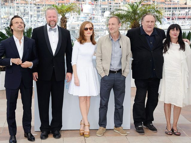Dan Warner, Isabelle Huppert, Guillaume Nicloux, Gérard Depardieu et Sylvie Pialat, pour « The valley of love »