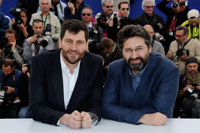 """Les réalisateurs Thanos Anastopoulos et Davide Del Degan au photcall de """"Ultima Piaggia"""""""