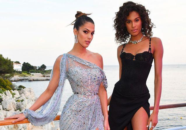 Cannes 2019 : Iris Mittenaere et Cindy Bruna, reines de beauté pour De Grisogono