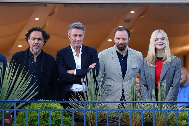 Le président du jury avec Pawel Pawlikowski, Yorgos Lanthimos et Elle Fanning