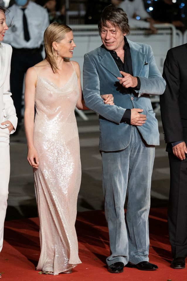 Mélanie Thierry et Mathieu Amalric sur le tapis rouge du film «Tralala »