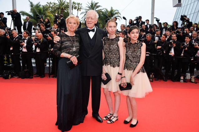 Max von Sydow, son épouse et leurs petites-filles