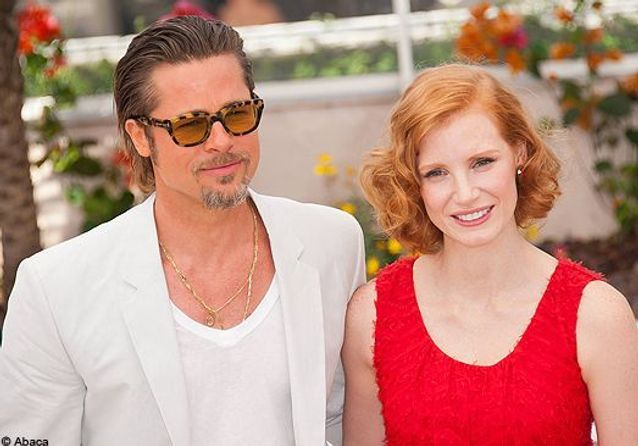 Brad Pitt, au top de sa forme pour le photocall de « Tree of Life »
