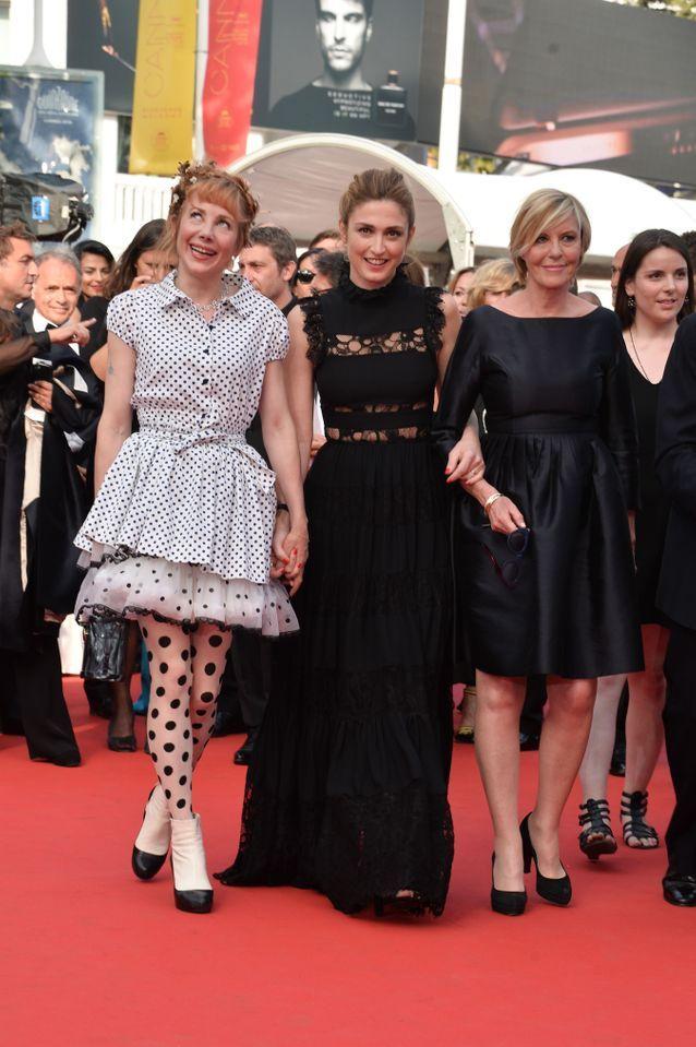 Julie Depardieu et Julie Gayet en Elie Saab