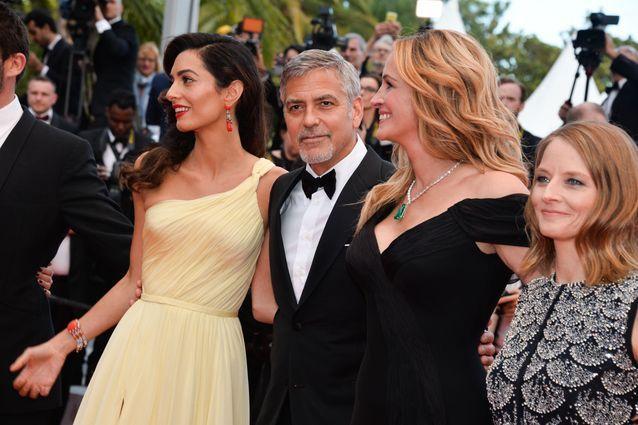 Amal et Georges Clooney, Julia Roberts et Jodie Foster