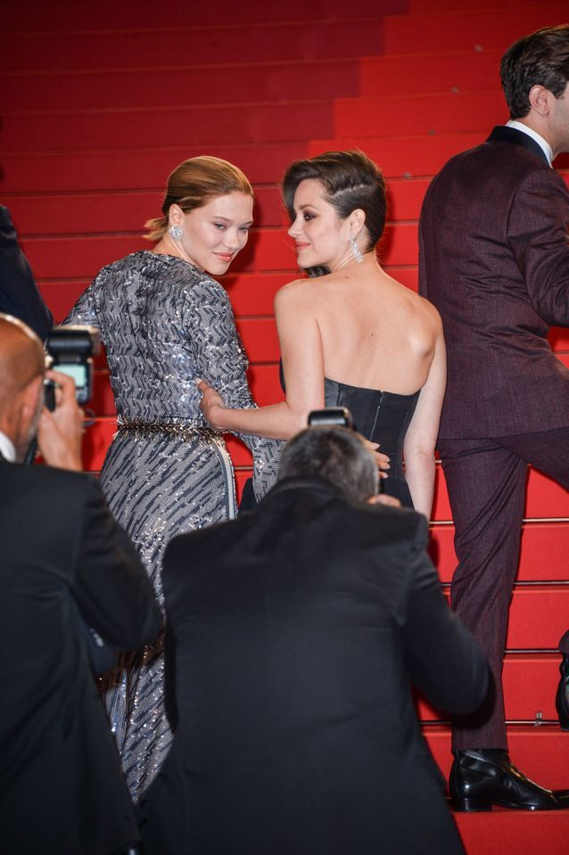 Léa Seydoux et Marion Cotillard en Dior