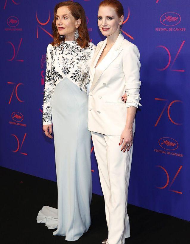 Isabelle Huppert et Jessica Chastain