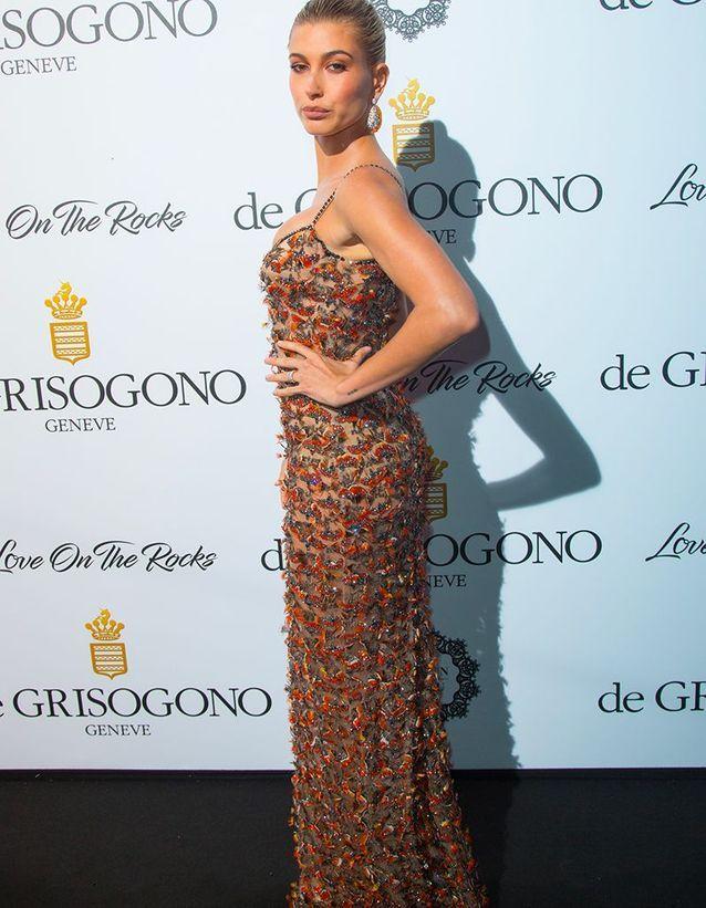 Hailey Baldwin en Roberto Cavalli Couture