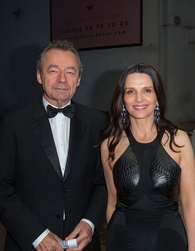 Michel Denisot et Juliette Binoche