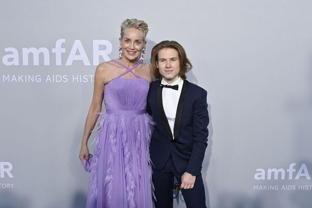 Sharon Stone et son fils Roan
