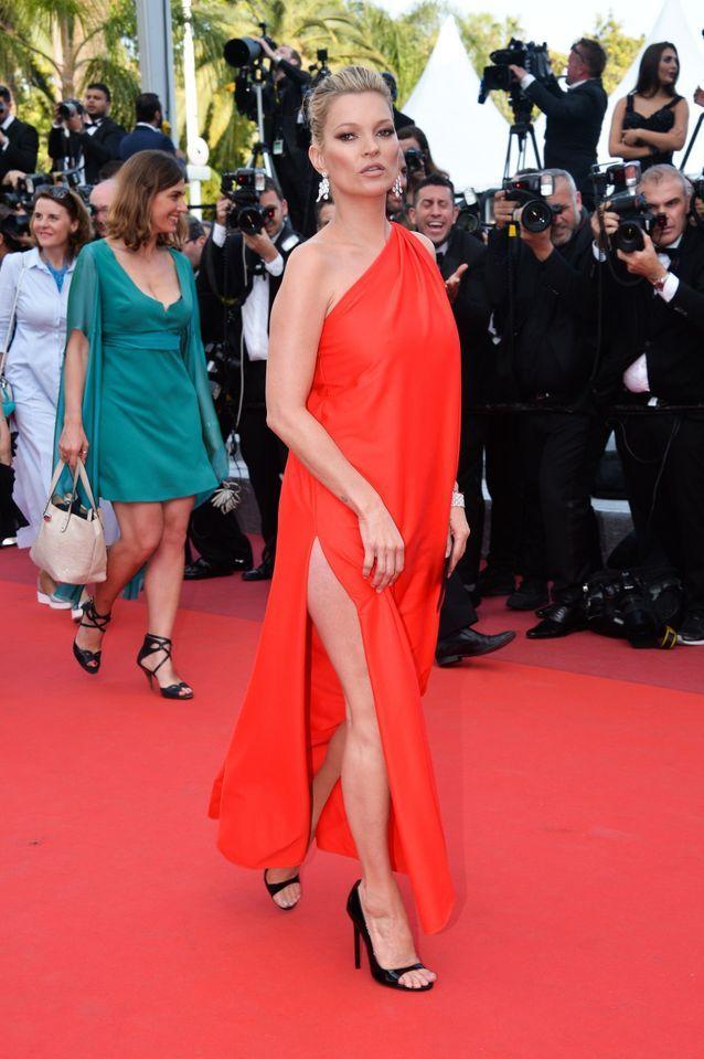 Kate Moss en robe vintage Halston