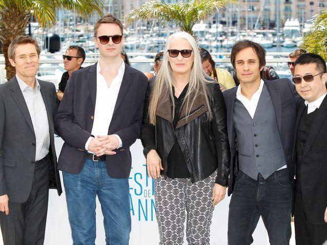 Jane Campion, entourée des quatre hommes membres du jury
