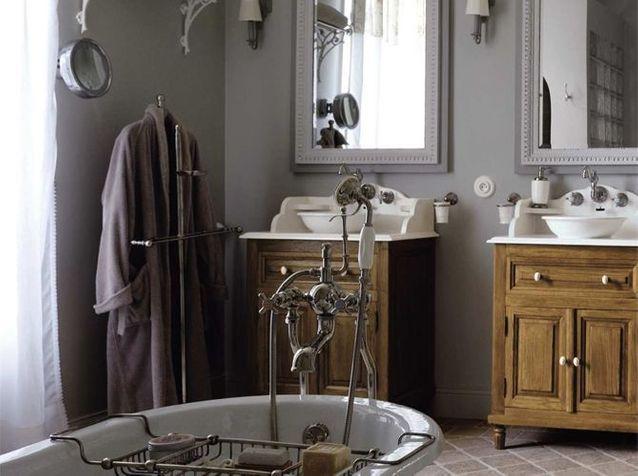 Le charme du rétro dans la salle de bains