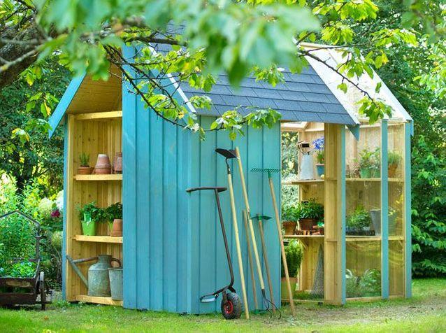 24 abris pour votre jardin   abris de jardin - Elle Décoration 2178399e530a