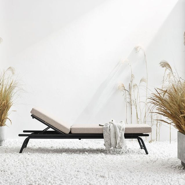 Chaise longue inclinable