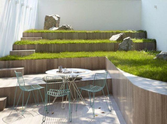 Jardin design en escalier