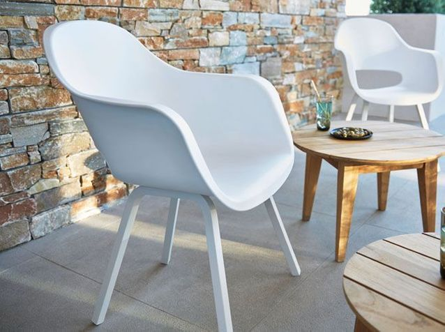 Chaise Blanche Collection Printemps été 2016 Castorama