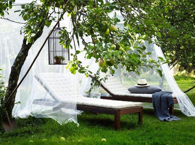 Bain de soleil bois blanc ikea