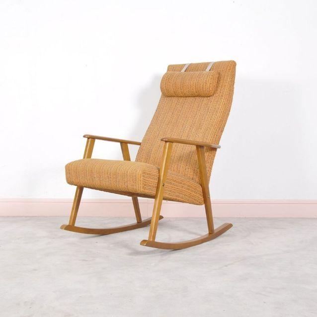 Rocking Chair Mid-Century Moderne par Johanson, Suède, 1960s