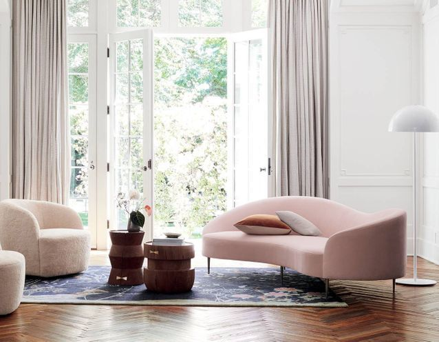 Le sofa rose Goop x CB2