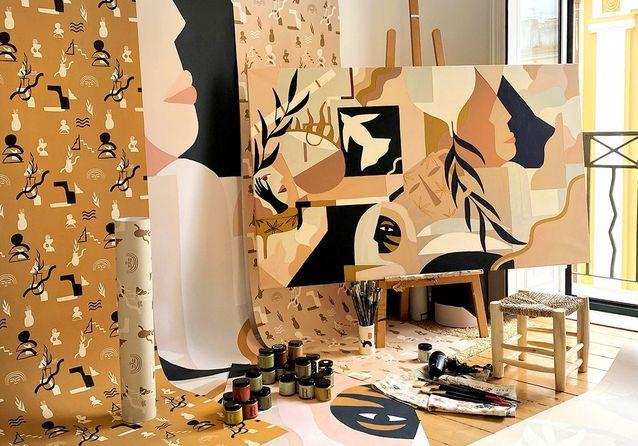 #ELLEDécoCrush : Madi X Ressource ou la tendance papiers peints d'artiste