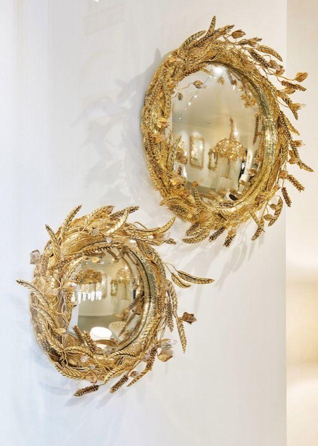 Duo de miroirs dorés
