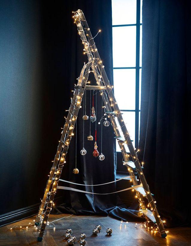 Détourner une échelle en sapin de Noël