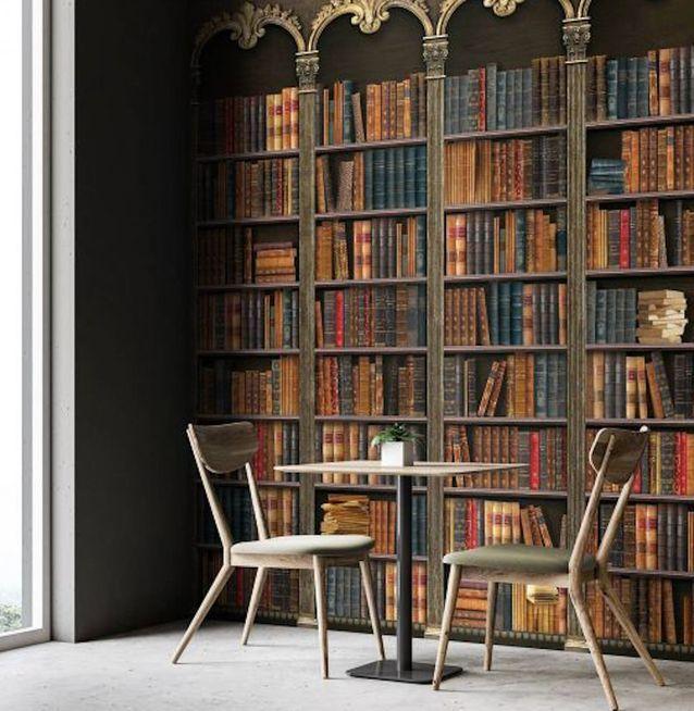 Une bibliothèque en trompe-l'œil