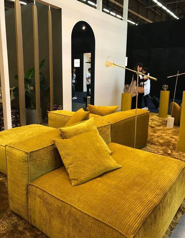 Canapé modulable en velours côtelé Bolia