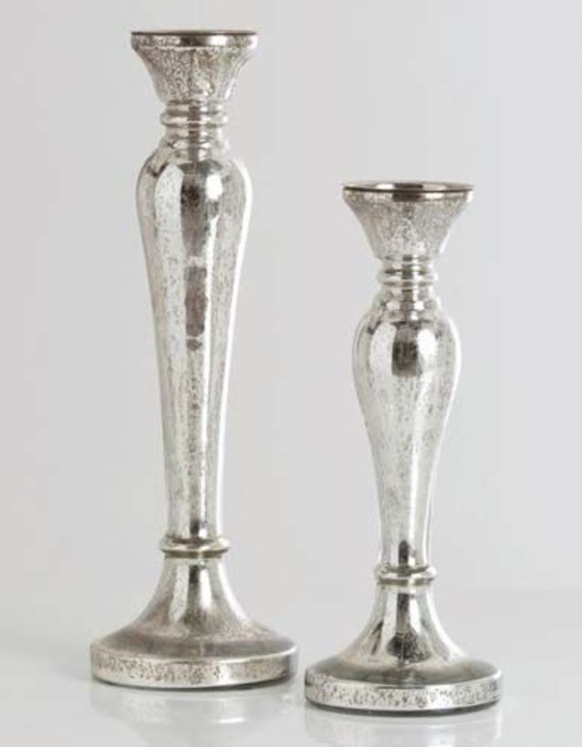 Bougeoir en verre mercurisé, 2 tailles, 19,90 €