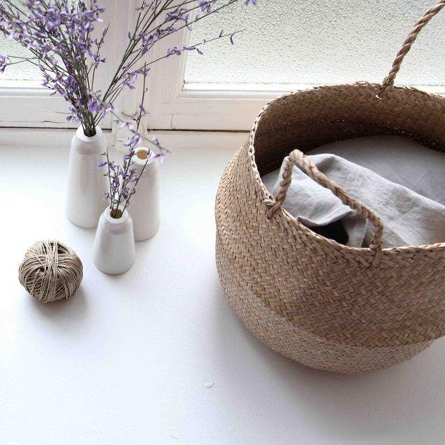 Un panier pour les textiles