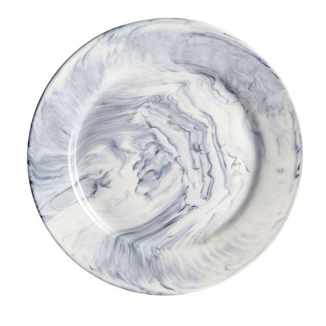 Assiette imitation marbre