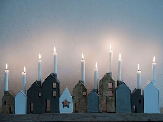 Photophores maison deco nordique