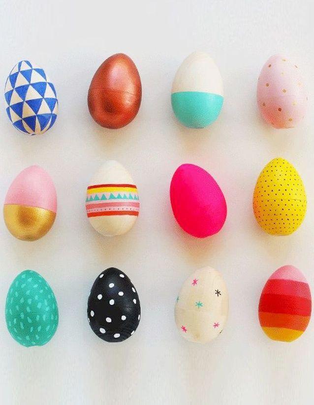Des œufs en bois