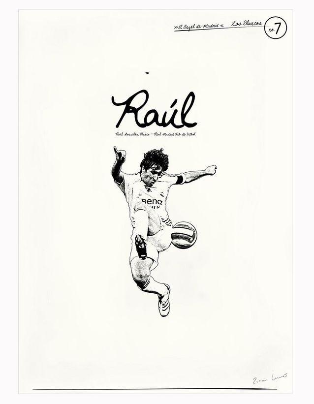 Affiche minimaliste de Raúl González Blanco