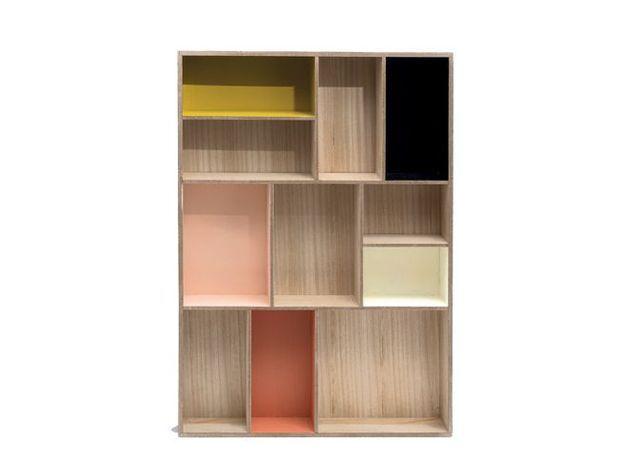 Une étagère multicases graphique et coloré
