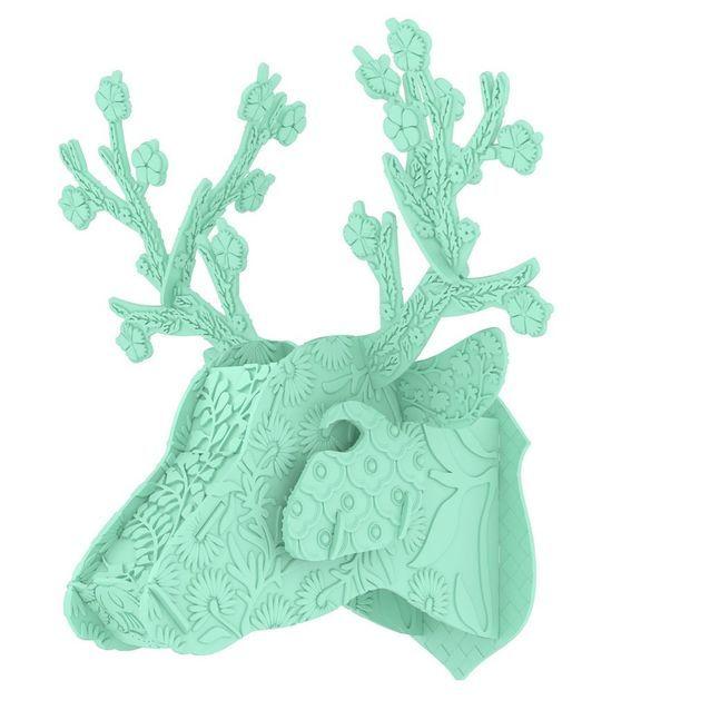 Trophée cerf en plastique