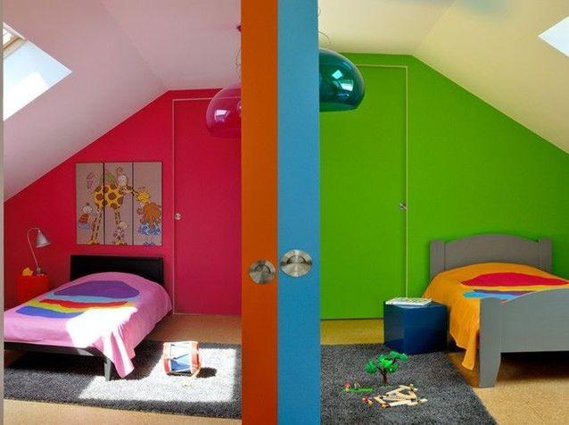Chambre d\'enfant colorée et amusante - Décors d\'enfants ...