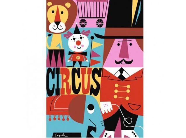 Affiche cirque enfant habit cheris
