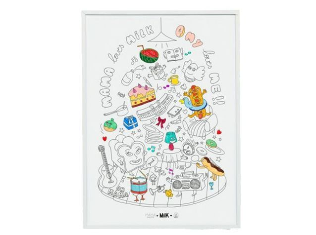 Une affiche à colorier