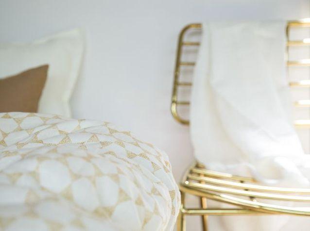 Linge de lit à motifs en lin