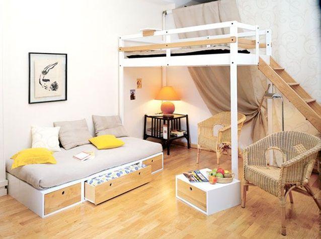 Lits mezzanine : prenez de la hauteur - Elle Décoration