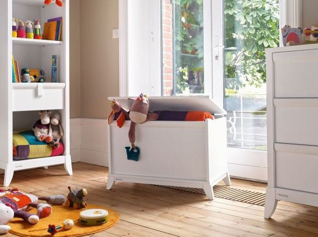 Chambre d'enfants : un joli coffre à jouets pour tout ranger
